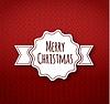 Векторный клипарт: Рождество каллиграфия на вязаный узор