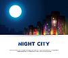 Nacht städtischen Stadt Hintergrund