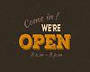 Векторный клипарт: Приходите в Мы `открытым