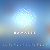 Blured Hintergrund mit Yoga-Logo | Stock Vektrografik