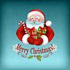 선물을 들고 산타 클로스 | Stock Vector Graphics