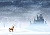 Weihnachten Landschaft Winter Schloss