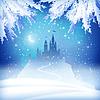 Weihnachten Winter Schloss