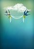 Fliegen-Vogel Swallow Karte