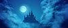 Fantasy Castle Moonlight Sky
