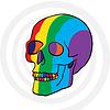 Векторный клипарт: цвет череп
