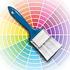 Векторный клипарт: кисти и цветовое колесо