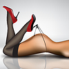 Векторный клипарт: очаровательная в чулках и обуви
