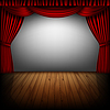 Векторный клипарт: Красный занавес и кинотеатр