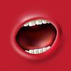 Векторный клипарт: кричать рот