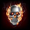 Векторный клипарт: Череп в огне