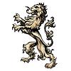 Heraldik Löwen im Gravur-Stil gezeichnet