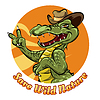 Sparen Natur Logo-Design mit Krokodil