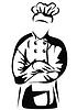 Koch verschränkten Armen | Stock Vektrografik