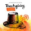 Thanksgiving Day Hintergrund. Typografische Poster.