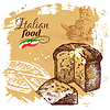 skizzieren Italienisch Lebensmittel Hintergrund. . R