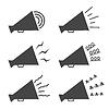 Векторный клипарт: Мегафон иконы