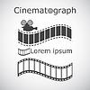 Stylizowane filmowanie przykładowy tekst | Stock Vector Graphics
