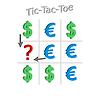 Konzept der Wechselkurs von Dollar und Euro