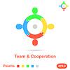 Vier Segment Konzept der Teamarbeit