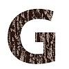 Buchstabe G aus Eichenrinde