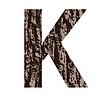 Buchstabe K aus Eichenrinde