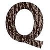Buchstabe Q aus Eichenrinde