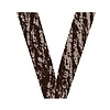 Buchstabe V aus Eichenrinde