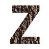 Buchstabe Z aus Eichenrinde