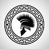 griechischen Helm