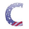 american flag Buchstaben C