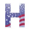 american flag Buchstaben H