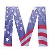 american flag Buchstaben M