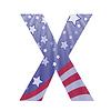 american flag Buchstaben X