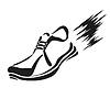 Векторный клипарт: работает значок обуви
