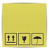 Векторный клипарт: символы на бумажной коробке