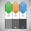 Векторный клипарт: Графическая информация шаблон бизнес