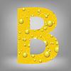Векторный клипарт: пиво письмо B