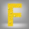 Векторный клипарт: пиво письмо F