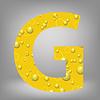 Векторный клипарт: пиво письмо G