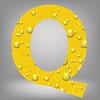Векторный клипарт: пиво письмо Q