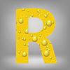 Векторный клипарт: пиво письмо R