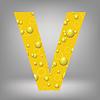 Векторный клипарт: пиво письмо V