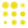 태양 아이콘을 설정 | Stock Vector Graphics