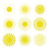 太阳图标集 | 向量插图