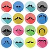 Векторный клипарт: усы иконки