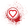 Векторный клипарт: Сердце значок