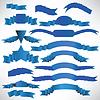 Blaue Bänder mit Streifen