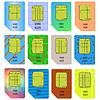 Векторный клипарт: SIM-карты