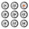 Векторный клипарт: медиа-кнопки